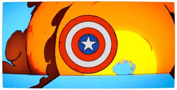 Vamers - Geekosphere - Artistry - Blakmeal Homage to Marvel Comics - Captain America - Banner