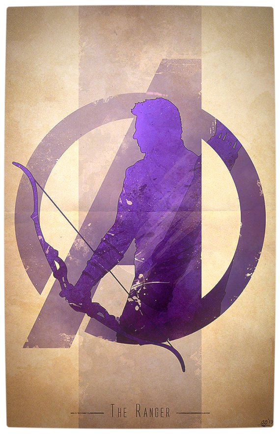 Vamers - Artistry - Anthony Genuardi - Minimalist Avengers Initiative Posters - Hawkeye
