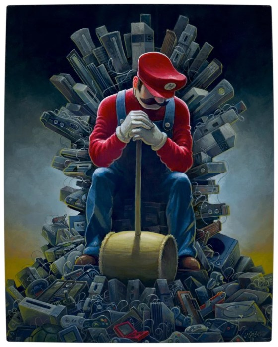 Vamers - Artistry - Mario's Throne of Games by Jasinki