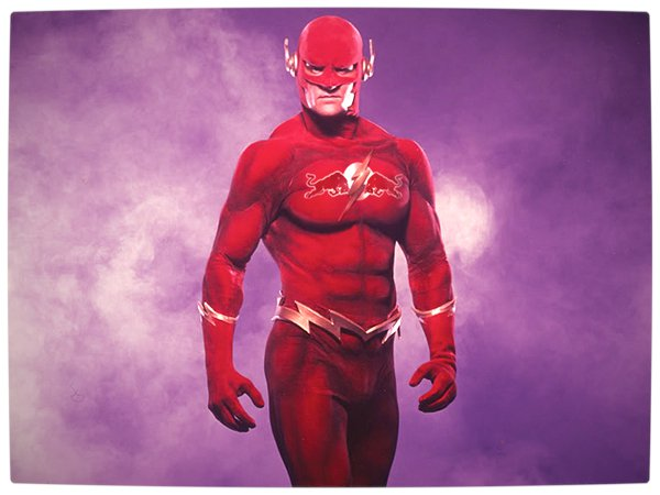 Vamers - Artistry - What if your favourite superhero had a corporate sponsorship - The Flash sponsored by Red Bull 02