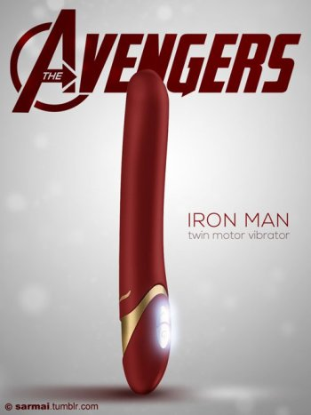 Vamers - Ermahgerd - Earth's Mightiest Sex Toys Assemble as The Avengers Dildos - Iron Man
