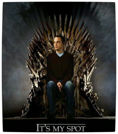 Vamers - Fandom - It's My Spot - Sheldon Cooper's Iron Throne - Game of Thrones Parody