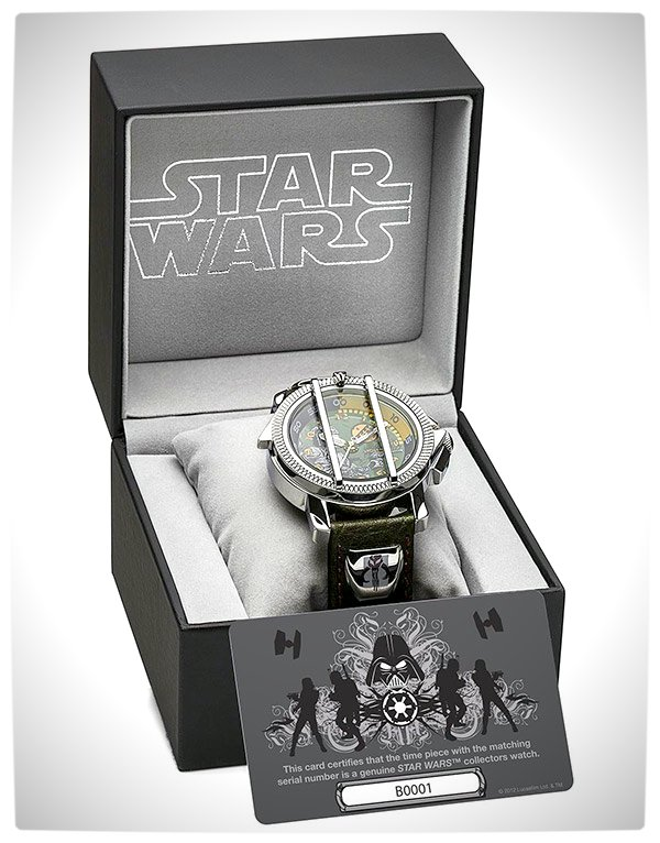 Vamers - SUATMM - Star Wars Collector's Watches - It Is Time to Use the Force - Boba Fett Time Piece Box