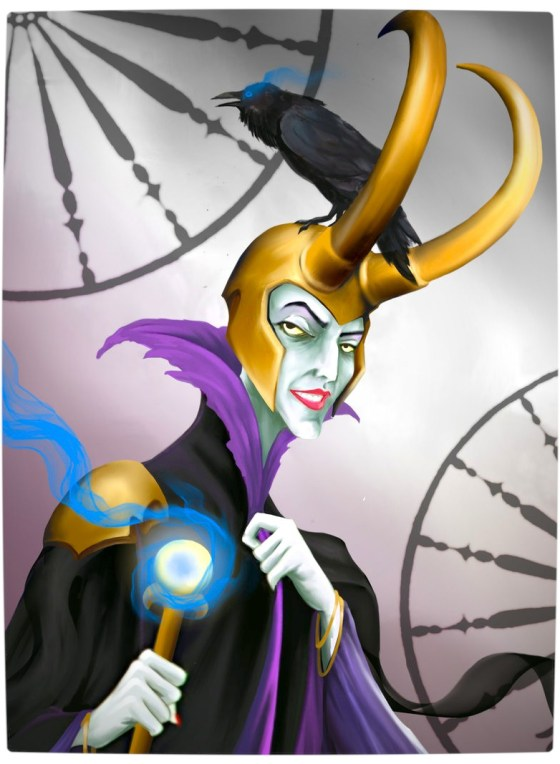 Vamers - Artistry - Disney Princesses Imagined as The Avengers - Maleficent as Loki