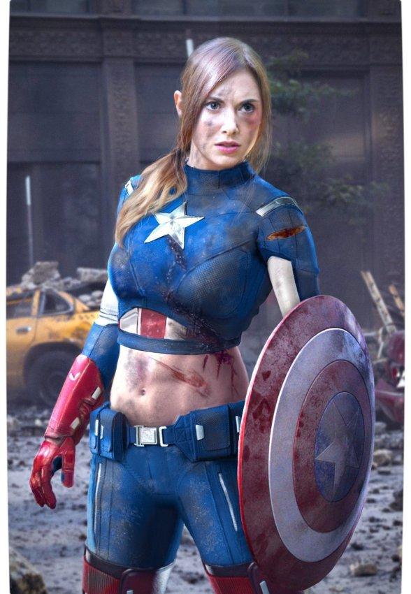 Vamers - Artistry - Female Avengers - See the Superheroes Recast as Women - Alison Brie as Miss America