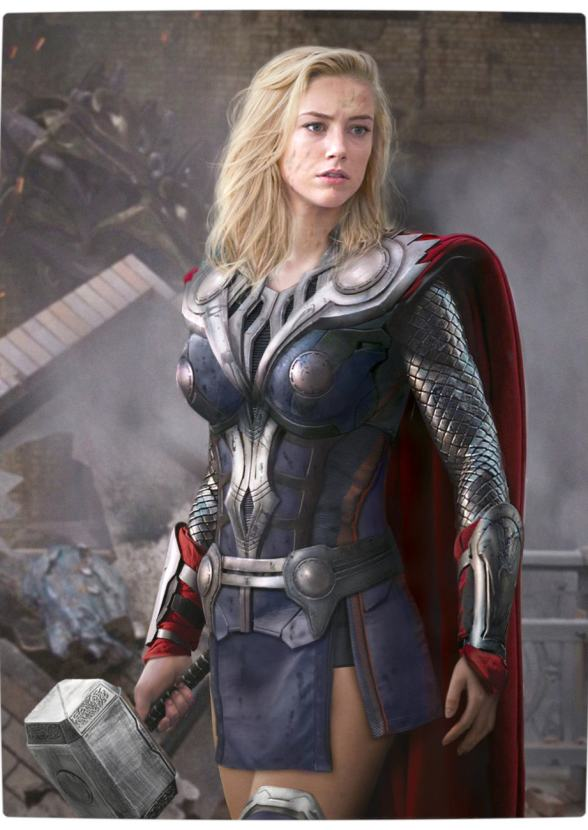 Vamers - Artistry - Female Avengers - See the Superheroes Recast as Women - Amber Heard as Thoria