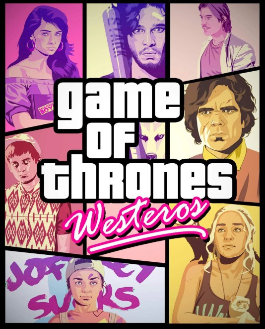 Vamers - Artistry - Game of Thrones Meets Grand Theft Auto - Poster