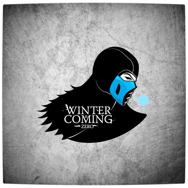 Vamers - Artistry - Gaming & Cartoon Pop. Culture Icons Imagined as 'Game of Thrones' Houses - Art by Fabio Di Corleto - House Stark and Mortal Kombat's Sub Zero