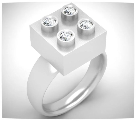 Vamers - Geek Chic - SUATMM - 10 Gorgeously Geektastic Engagement Rings - Lego Ring