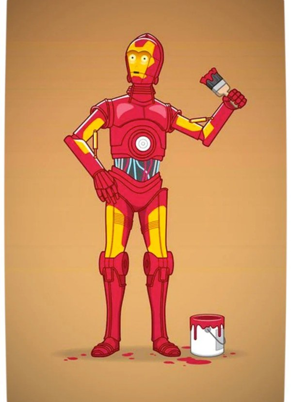 Vamers - Humour - C3PO Wants to be Iron Man