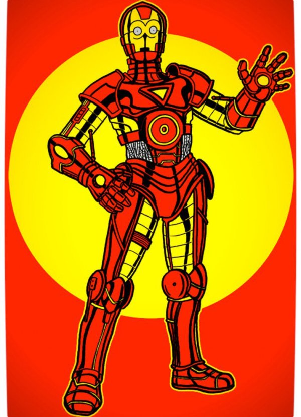 Vamers - Humour - C3PO Wants to be Iron Man - Poster