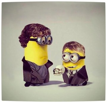 Vamers - Artistry - Deducible Me Sherlock Holmes & Doctor Watson as Minions - The Clue is in the Skull
