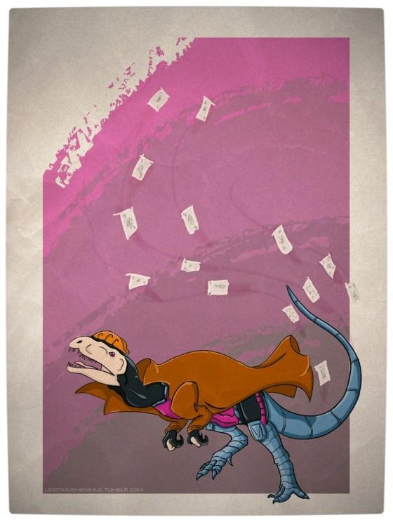 Vamers - Artistry - Superhero Dinosaurs Cretaceously Cool - Gambilophosaurus
