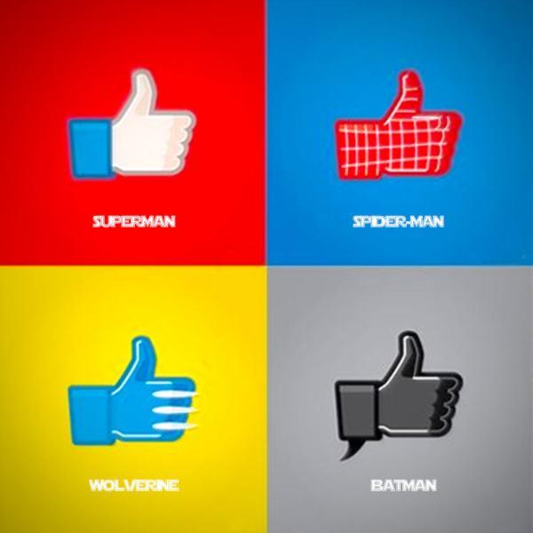Vamers - Artistry - Superhero Like Facebook Style - Superman - Batman - Wolverine - Spider-Man - Full