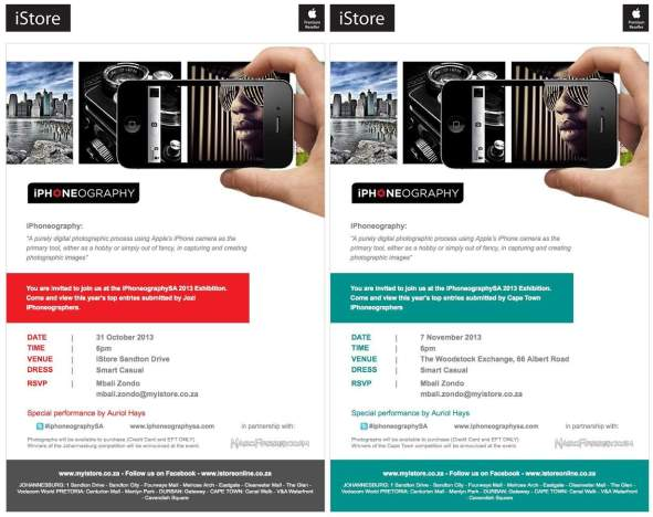 Vamers - FYI - South Africa's Annual iPhoneography Exhibition is Back - Johhanesburg and Cape Town Invitations
