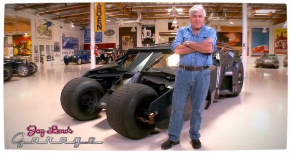 Vamers - Fandom - Jay Leno's Garage Explores The Dark Knights Tumbler - Leno with the Tumbler