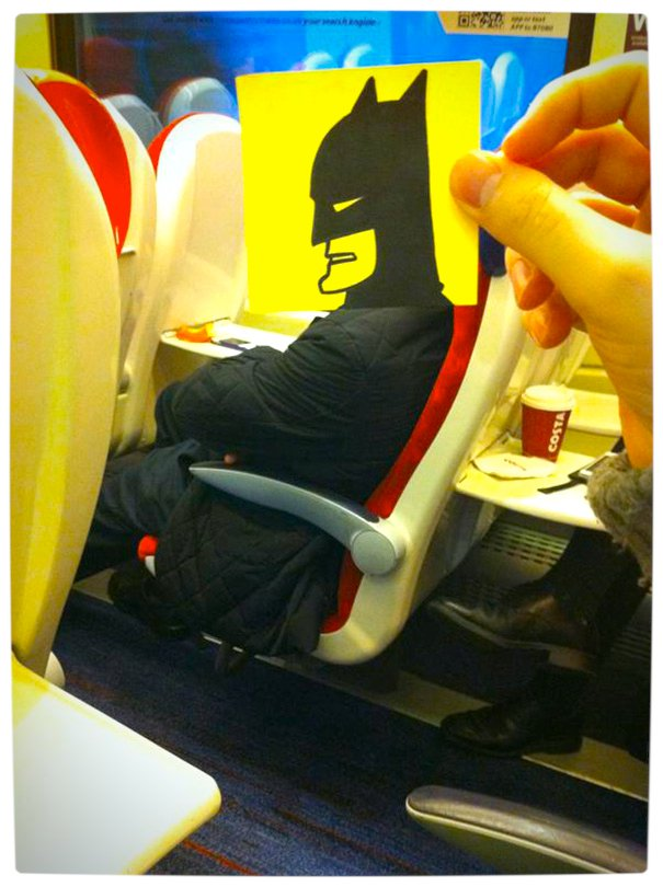 Vamers - Artistry - Illustrator Turns Fellow Commuters Into Cartoon Characters - October Jones - Joe Butcher - Batman