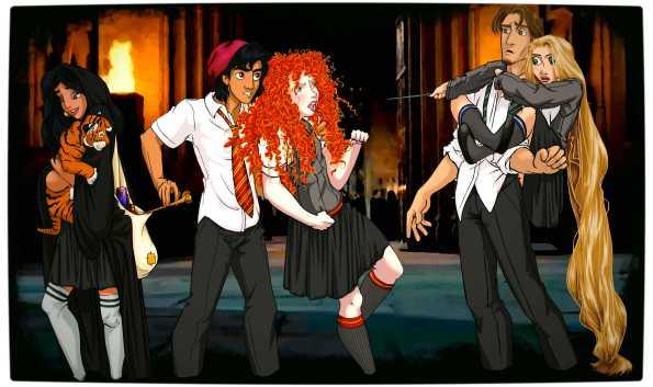 Vamers - Artistry - Mash-Up - 'Disney at Hogwarts' Imagines Disney Royalty as Harry Potter's Peers - Art by Eira1893 - Disney at Hogwarts 03