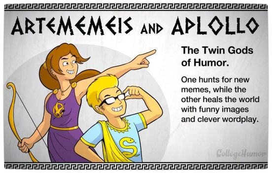 Vamers - Geekosphere - The Gods and Goddesses of the Internet Pantheon - Artememeis and Aplollo