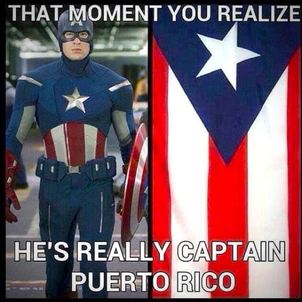 Vamers - Humour - Captain America's Fashion Faux Pas in 'Winter Soldier' - Captain Puerto Rico