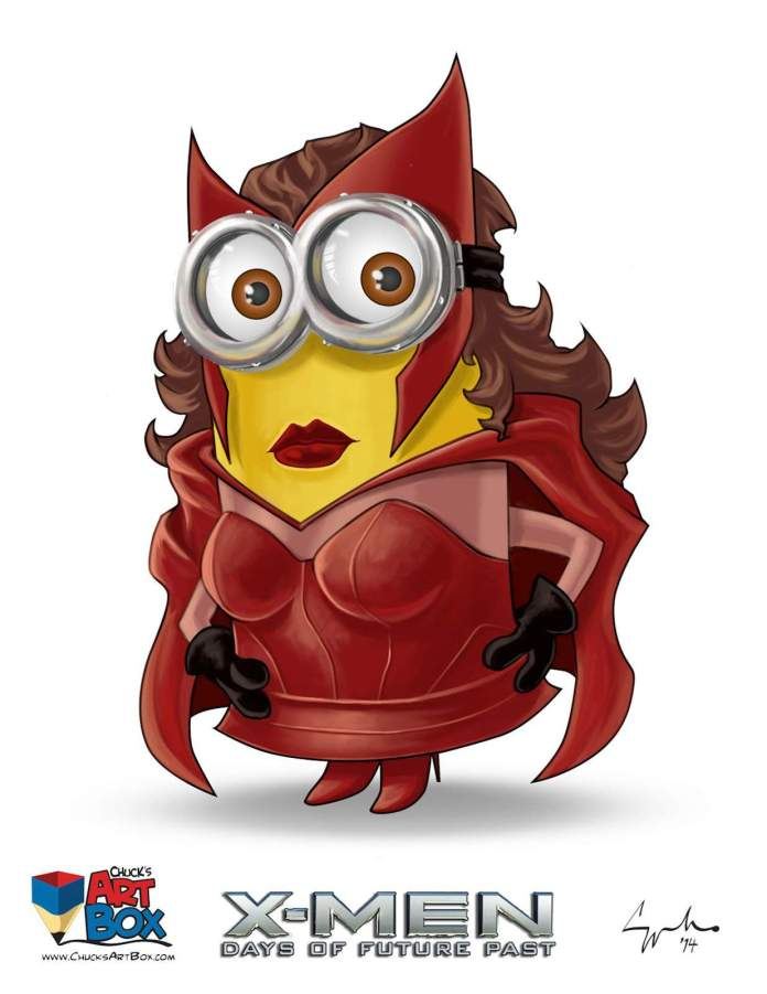 Vamers - Artistry - X-MINIONS Days of Future Past - Despicable Me Minions as X-MEN - Pheonix