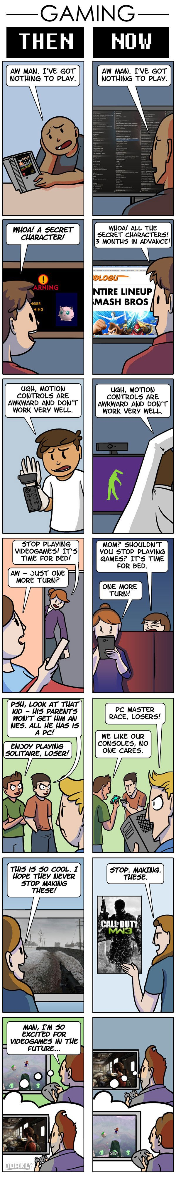 Vamers - Humour - Gaming Then Versus Now - Full Comic by Julia Lepetit and Andrew Bridgman for Dorkly