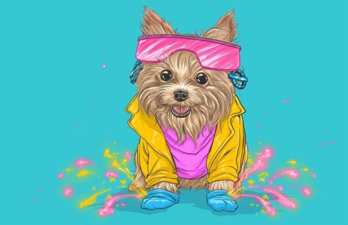 Vamers - Artistry - Fandom - Artist Josh Lynch Imagines Dogs as Superheroes from the Marvel Universe - Jubilee Mutant