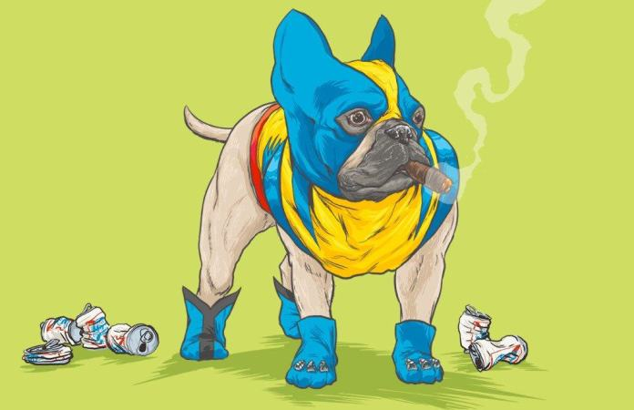 Vamers - Artistry - Fandom - Artist Josh Lynch Imagines Dogs as Superheroes from the Marvel Universe - Wolverine
