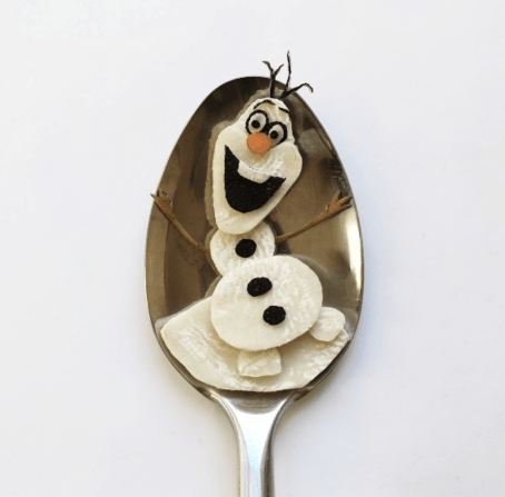 Vamers - FYI - Artistry - Food - Ioana Vanc - Geeky Edible Artwork Created on Spoons - Olaf