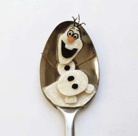Vamers - FYI - Artistry - Food - Ioana Vanc - Geeky Edible Artwork Created on Spoons - Olaf