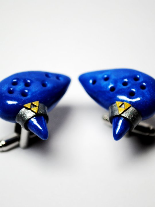 Vamers Store - Merchandise - Geek Chic - Accessories - Cufflinks - Legend of Zelda Inspired Ocarina of Time Cufflinks 01