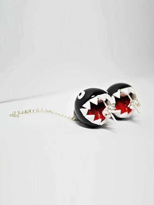 Vamers Store - Merchandise - Jewellery - Earrings - Exclusive Nintendo Super Mario Chain Chomp inspired Earrings 03