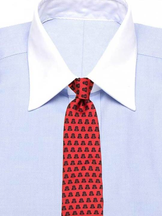 Vamers Store - Merchandise - Accessories - Necktie - Lucasfilm Star Wars Darth Vader Silk Necktie (Black on Red) 03