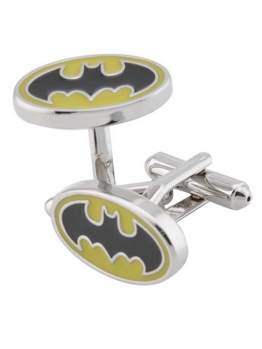Vamers Store - Merchandise - Geek Chic - Accessories - Cufflinks - Batman Inspired Classic Bat Symbol Cufflinks (Yellow) 01