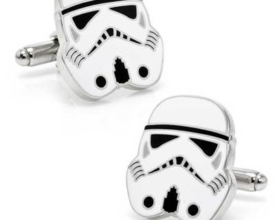 Imperial Stormtrooper Cufflinks Inspired by Star Wars