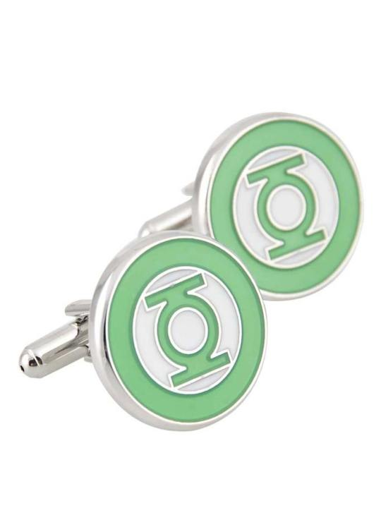 Vamers Store - Merchandise - Geek Chic - Accessories - Cufflinks - Green Lantern Inspired Symbol Cufflinks - Lantern Green - 01