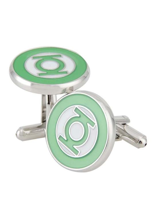 Vamers Store - Merchandise - Geek Chic - Accessories - Cufflinks - Green Lantern Inspired Symbol Cufflinks - Lantern Green - 02