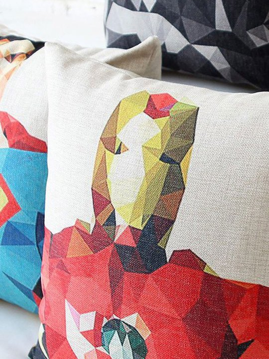 Vamers Store - House and Leisure - VS-HAH-PHC - Polygon Hero Pillow Case - Variations 01