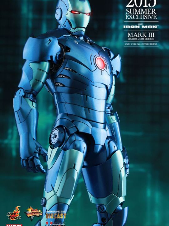 Vamers Store - Hot Toys - MMS312D14 - Iron Man - Iron Man Mark III Stealth Mode Version - 2015 Summer Exclusive - 12