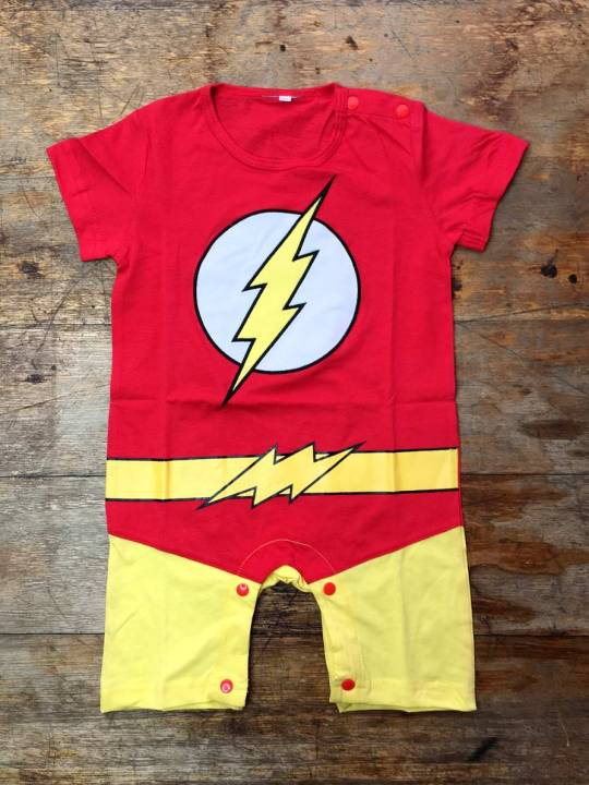 Vamers Store - Apparel - Baby Clothing - The Flash Suit Baby Grow Romper - 01