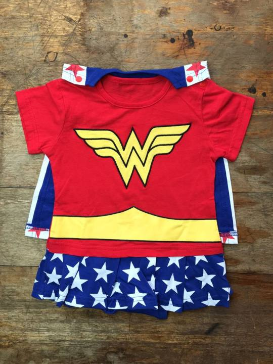 Vamers Store - Apparel - Baby Clothing - Wonder Woman Suit with Cape Baby Grow Romper - 01