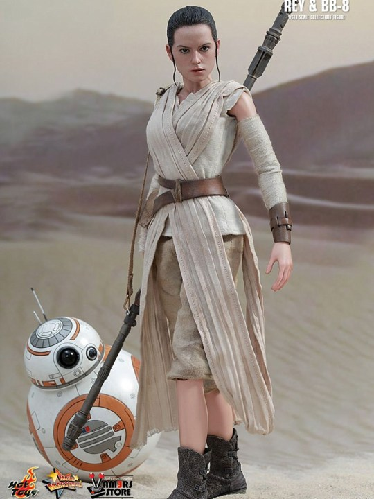 Vamers Store - Hot Toys - MMS337- Disney's Star Wars Episode VII The Force Awakens - Rey and BB-8 Collectible Set - 01