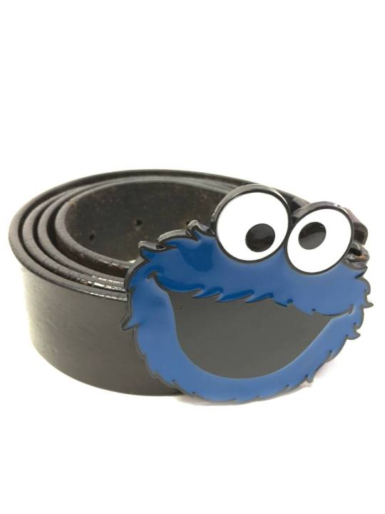 Vamers Store - Merchandise - Geek Chic - Accessories - Belt Buckles - Cookie Monster Face Belt Buckle inspired by The Muppets - 04