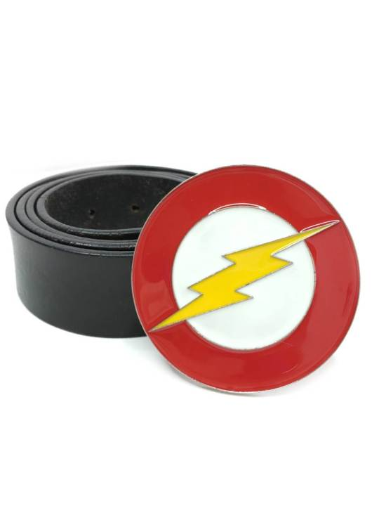 Vamers Store - Merchandise - Geek Chic - Accessories - Belt Buckles - The Flash Logo Belt Buckle inspired by DC Comics - 04