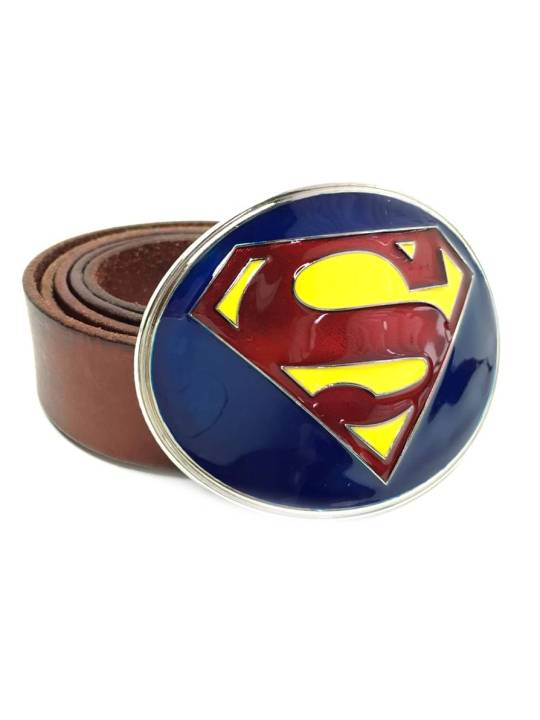 Vamers Store - Merchandise - Geek Chic - Accessories - Superman New Adventures Logo Belt Buckle inspired by DC Comics - 04