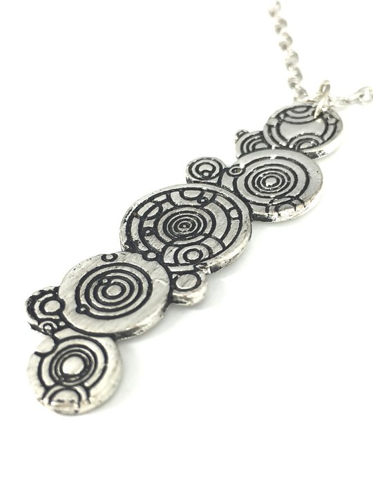 Vamers Store - Jewellery -  Gallifreyan pendant and necklace inspired by Doctor Who- Vintage - Metal - 06