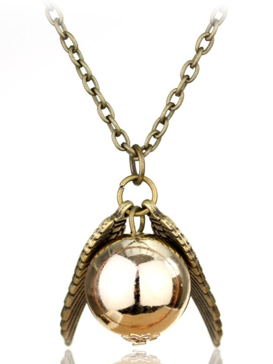 Vamers Store - Jewellery -  Golden Snitch pendant and necklace inspired by Harry Potter - Vintage - Bronze and Gold