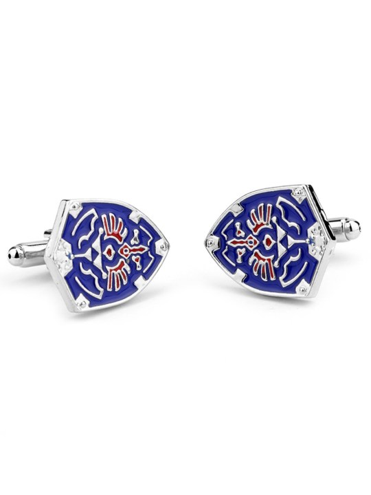 Vamers Store - Merchandise - Geek Chic - Accessories - Cufflinks - Hylian Shield Cufflinks inspired by the Legend of Zelda - Triforce - Enamel and Silver - 05