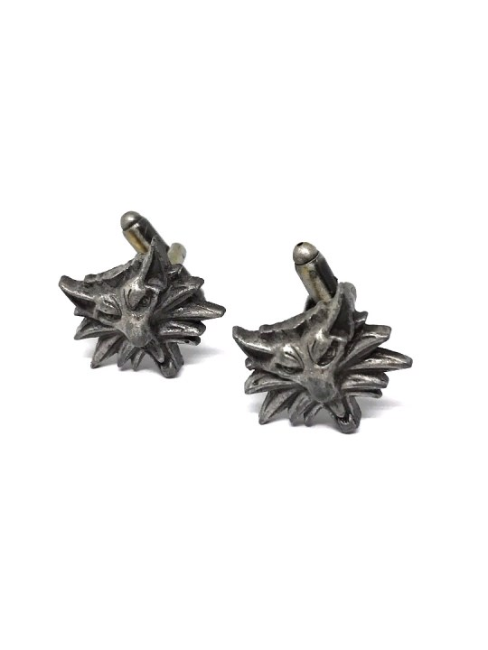 Vamers Store - Merchandise - Geek Chic - Accessories - Cufflinks - Witcher Wolf Cufflinks inspired by The Witcher - 1