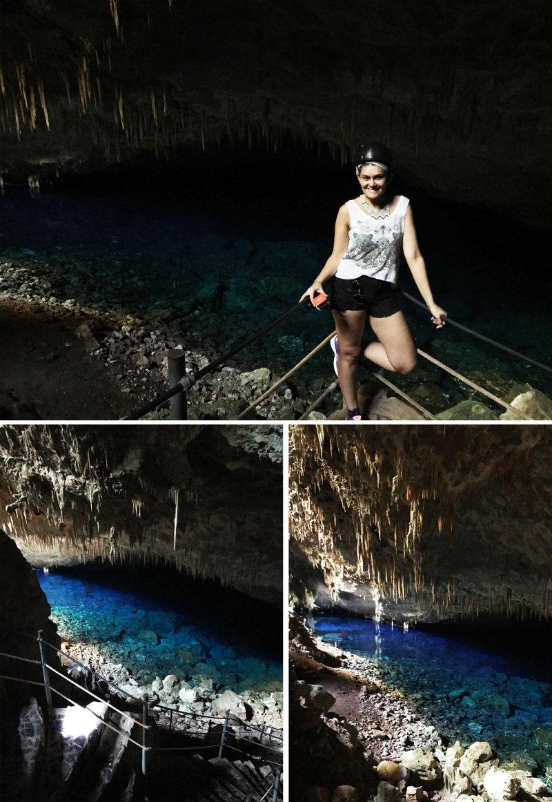 dentro da gruta azul